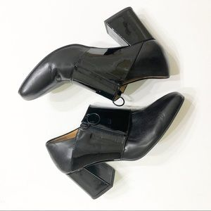 John Fluevog Black Block Heels Size 9